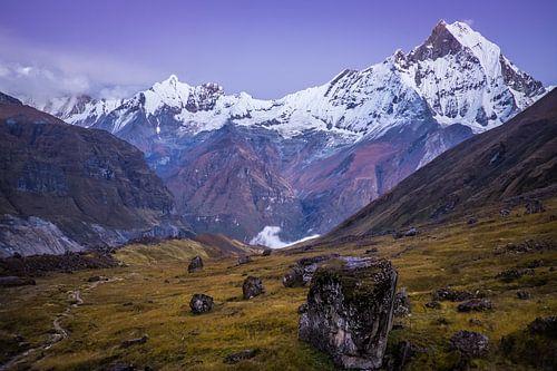 Fischschwanz Berg in Nepal von Roel Beurskens