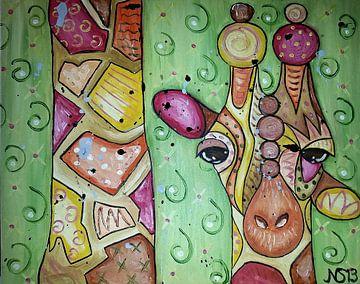Crazy Giraffe van Nathalie Snoeijen-van Eck