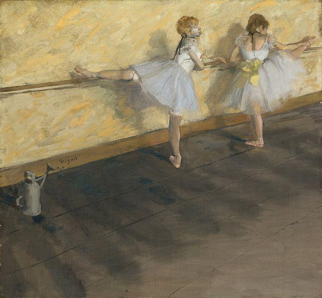 Dansers die bij de Staaf, Edgar Degas van Meesterlijcke Meesters
