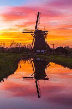 Reflectie windmolen de Onrust von Sander Hupkes