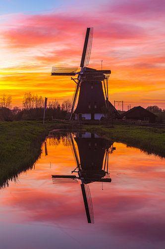 Reflectie windmolen de Onrust van