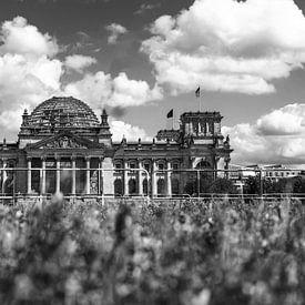 Rijksdaggebouw Berlijn op de Platz der Republik van Frank Herrmann