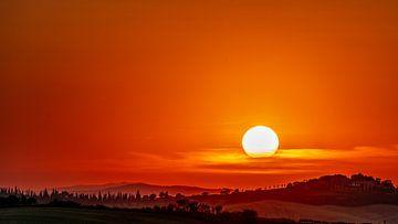 Sonnenuntergang in der Toskana von Rene Siebring