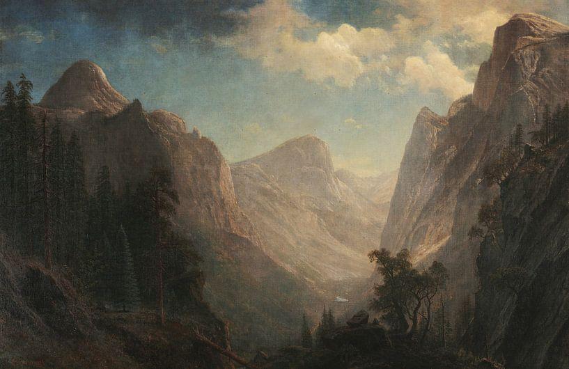 Blick in das Yosemite Valley, Albert Bierstadt von Meesterlijcke Meesters