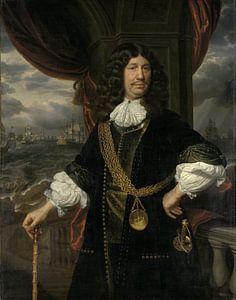 Portret van Mattheus van den Broucke, Samuel van Hoogstraten