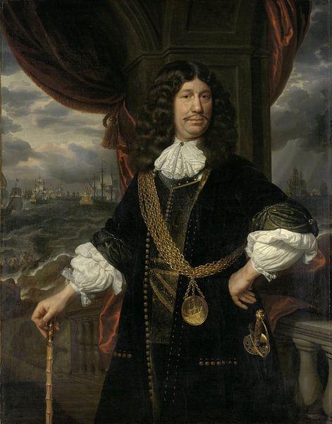 Portret van Mattheus van den Broucke, Samuel van Hoogstraten van Meesterlijcke Meesters