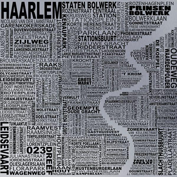 Kaart van Haarlem