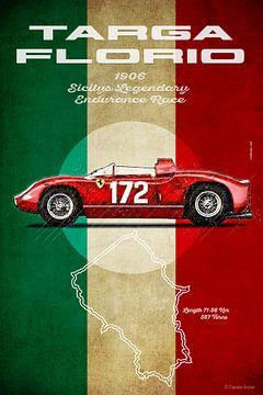 Ferrari 250LM, Targa Florio, Vintage von Theodor Decker