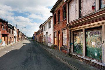 Straat in spookstad Doel in België van Peter de Kievith Fotografie