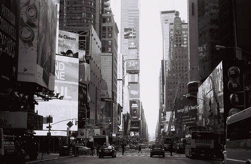 Times Square, New York, zwart wit (analoog) van