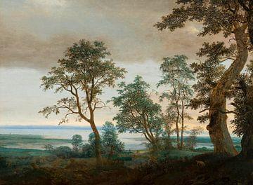 Flusslandschaft, gesehen durch die Bäume, Cornelis Vroom