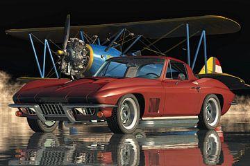 Chevrolet Corvette Stingray 427 de legendarische sportwagen uit 1967 van Jan Keteleer