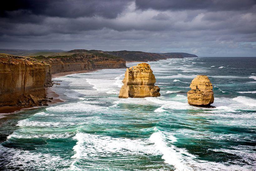 12 Apostelen, Grote oceaan, Great Ocean Road, Australië van Karel Pops