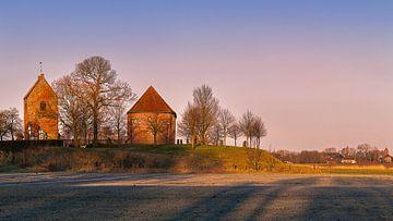 Die Kirche von Ezinge (Bearbeitung) von Marga Vroom