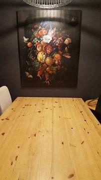 Kundenfoto: Stillleben Girlande aus Obst und Blumen - Jan Davidsz