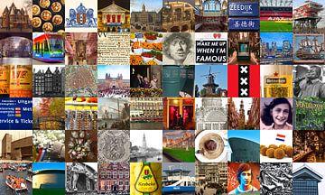 Alles van Amsterdam - collage van typische beelden van de stad en historie van Roger VDB