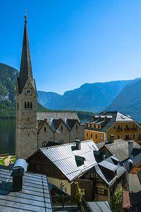 De protestantse kerk in Hallstatt