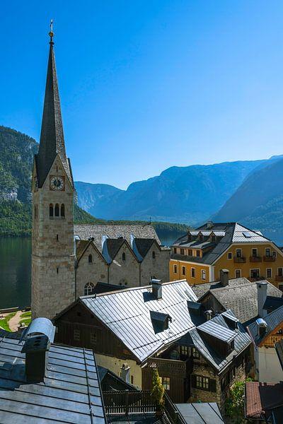 De protestantse kerk in Hallstatt van Peter Baier