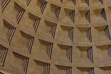 Blokkenspel in het Pantheon in Rome van Ed de Cock