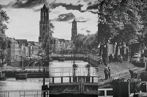 Drieluik van de Utrechtse Dom gezien vanaf de Bemuurde Weerd