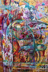 abstract met inkt van