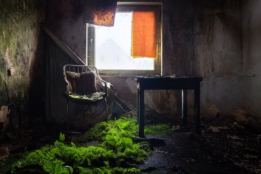 Verlaten Hotelkamer.
