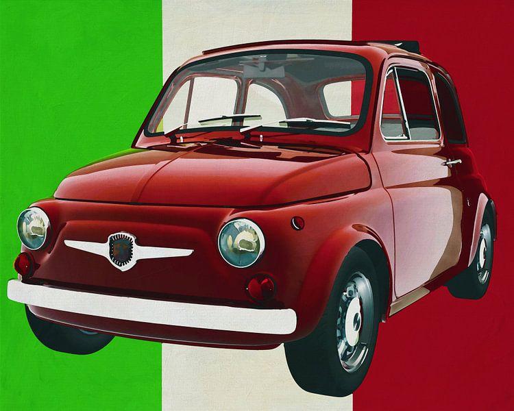 La Fiat Abarth 595 de 1968, symbole de la culture italienne sur Jan Keteleer
