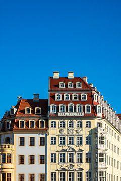 Historische Häuser auf dem Neumarkt in Dresden sur Rico Ködder
