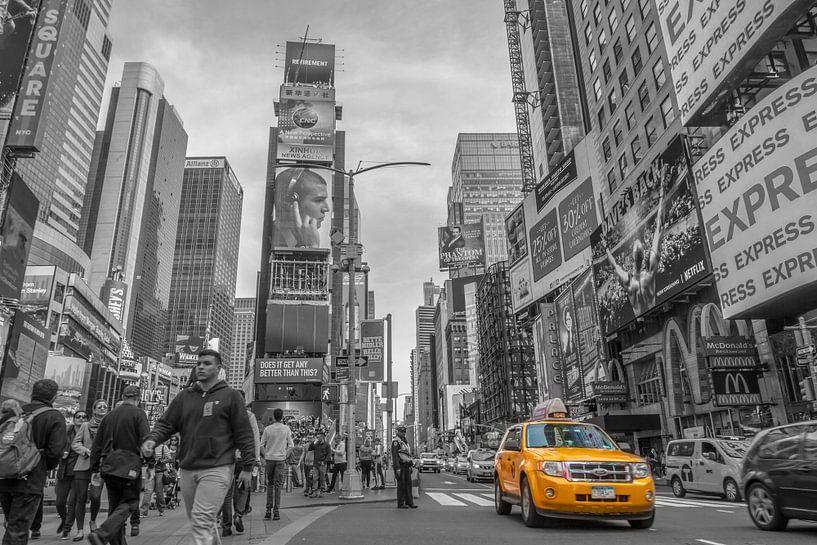 Times Square New York B&W van Rene Ladenius