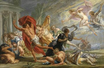 Apollo en Diana doden de kinderen van Niobe, Jan Boeckhorst