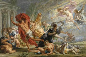 Apollo und Diana töten Niobe's Kinder, Jan Boeckhorst