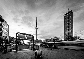 Berlin Skyline Alexanderplatz von Frank Herrmann