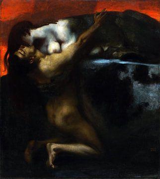 Franz von Stuck.Der Kuss der Sphinx