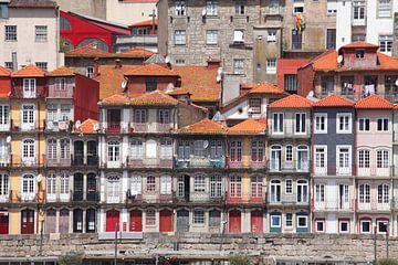 Blick auf  Altstadtviertel  Ribeira , Porto, Distrikt Porto, Portugal, Europa