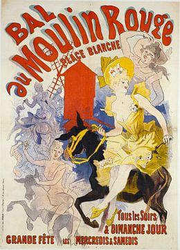 Affiche de la lithographie du Moulin Rouge 1889 sur Atelier Liesjes