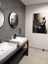 Photo de nos clients: La Laitière - Vermeer tableau, sur aluminium