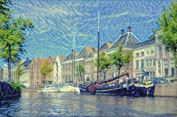 High Der Aa from Water dans le style de Van Gogh sur
