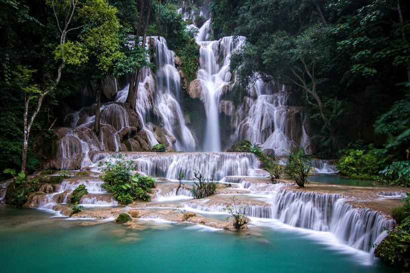 Kuang Si Watervallen van Cristina Vergara