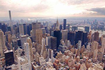New York Manhattan skyline van Nannie van der Wal