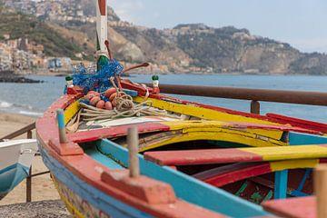 Regenboog boot van Ton Tolboom