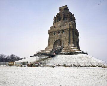 Völkerschlachtdenkmal Leipzig seitliche Ansicht