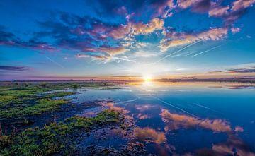 Sunset Wolfsbarge von Reint van Wijk