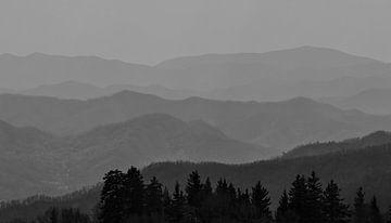 Uitzicht over de Great Smoky Mountains vanaf Clingmans Dome van Dirk Jan Kralt