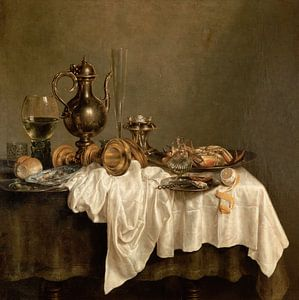 Frühstück mit einem Hummer, Willem Claesz Heda