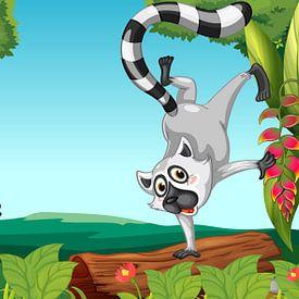 Wilde lemurs in de jungle van Henny Hagenaars