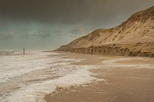 Zee, stand en duinen bij Paal 9 Texel van