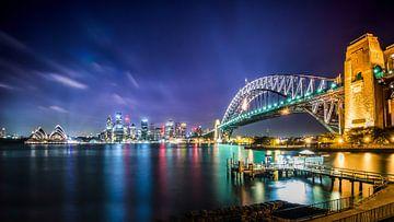 Die Skyline von Sydney bei Nacht | Panorama Australien von Ricardo Bouman