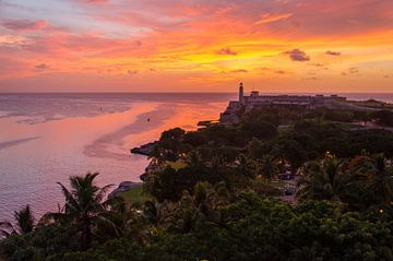 Zonsondergang Havana - Cuba van