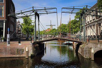 Ophaalbrug in Schiedam van Jan Kranendonk