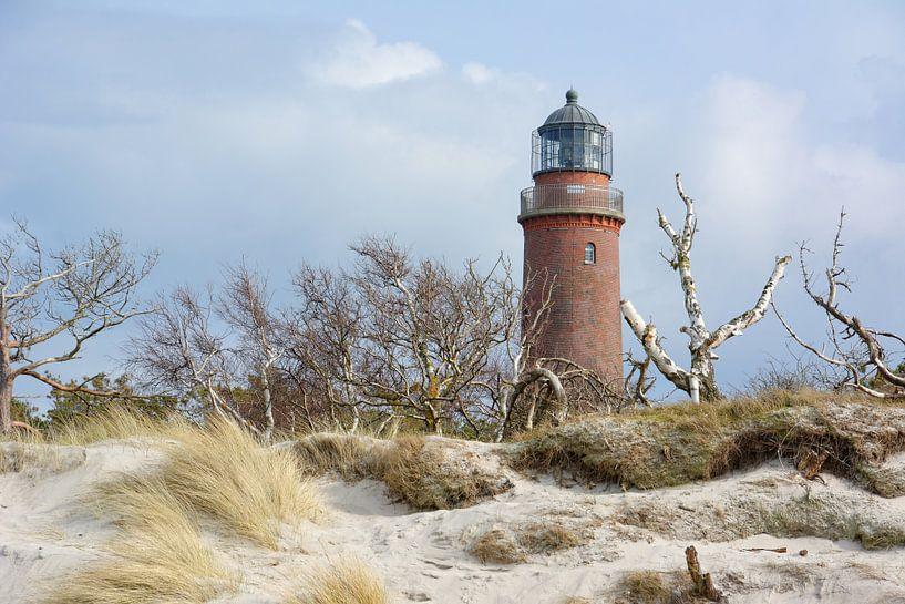 Hinter den Dünen - Leuchtturm Darßer Ort von Gisela Scheffbuch